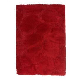 tapis shaggy rouge ruby flair rugs