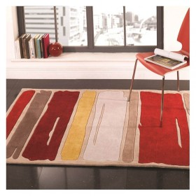 tapis moderne fida orange esprit home 70x140. Black Bedroom Furniture Sets. Home Design Ideas