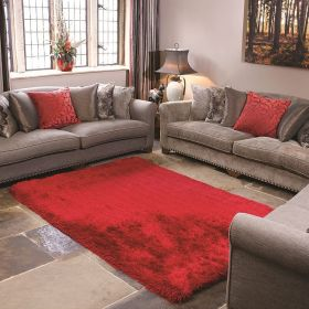 tapis shaggy pearl flair rugs tufté main rouge