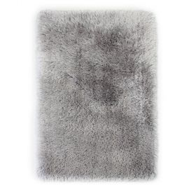 tapis argent shaggy tufté main pearl flair rugs