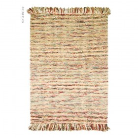 tapis laine tissé main beige maya flair rugs