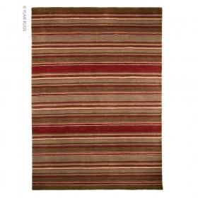 tapis flair rugs corn marron/rouge