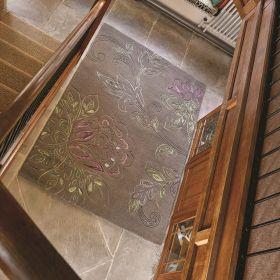 tapis moderne taupe sylvan flair rugs