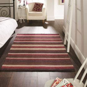 tapis rayé rose cotton stripe flair rugs
