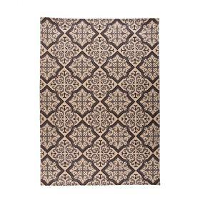 tapis moderne noir et crème mosaic flair rugs