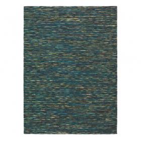 tapis bleu chiné gusto brink & campman pure laine