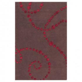tapis laine tufté main chocolat vitalize ligne pure