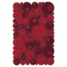 tapis laine tufté main rouge vitalize ligne pure