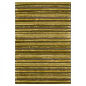tapis laine tufté main vert rayé reflect ligne pure