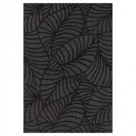 tapis en laine tufté main noir fantasize ligne pure