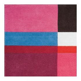tapis mutlicolore géométrique love ligne pure laine tufté main