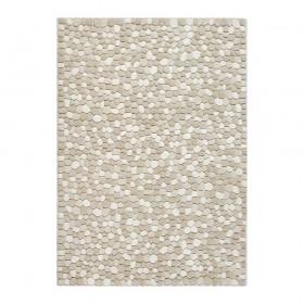 tapis laine tufté main ivoire vitalize ligne pure