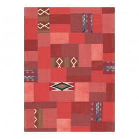 tapis kilim en laine bordeaux enjoy ligne pure