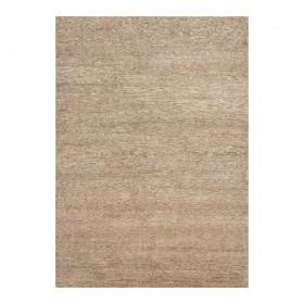 tapis laine noué main beige uni transform ligne pure