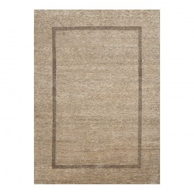 tapis laine noué main beige bordure transform ligne pure