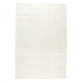 tapis viscose tissé main blanc reflect ligne pure