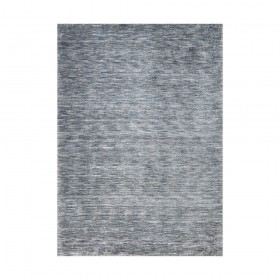 tapis viscose tissé main bleu transform ligne pure