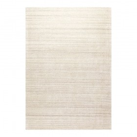 tapis transform ligne pure viscose naturelle tissé main beige
