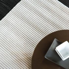 tapis viscose et laine noué main blanc reflect ligne pure