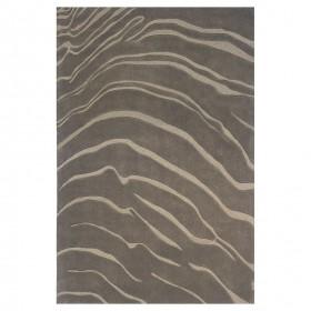 tapis tufté main ligne pure gris create