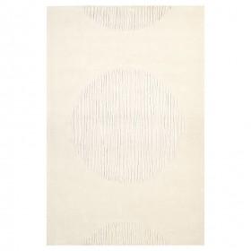 tapis create ligne pure tufté main blanc