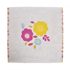 tapis enfant coton secret garden lilipinso