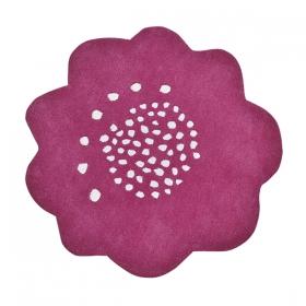 tapis enfant coton fleur prune lilipinso