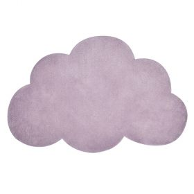 tapis enfant coton nuage lilas lilipinso