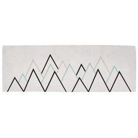 tapis enfant montagne gris et vert lilipinso