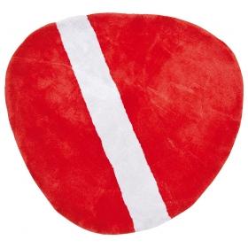tapis enfant coton stone rouge lilipinso