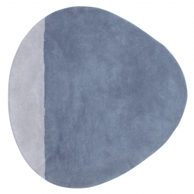 tapis enfant coton stone bleu lilipinso