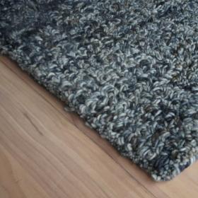 tapis en laine bleu chiné lucy home spirit