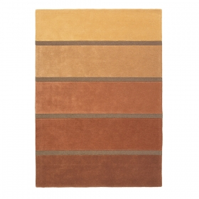 tapis orange luna stairs brink & campman pure laine