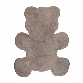 tapis enfant little teddy taupe nattiot