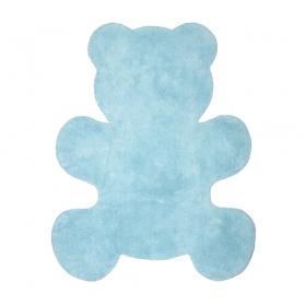 tapis enfant little teddy bleu nattiot