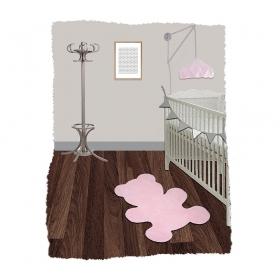tapis enfant little teddy rose nattiot
