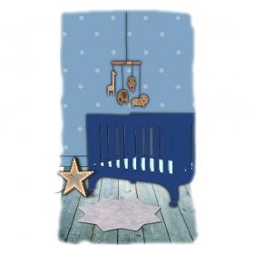 tapis enfant little stella beige nattiot