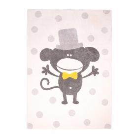 tapis enfant polka monkey nattiot