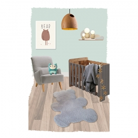 tapis enfant mischka teddy gris nattiot