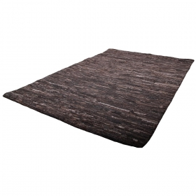 tapis en cuir marron dakota