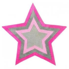 tapis enfant etoile rose