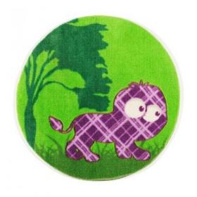 tapis enfant lion vert
