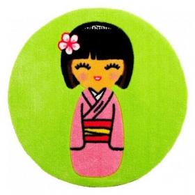 tapis enfant niponne vert anis