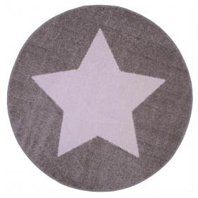 tapis enfant star taupe et blanc