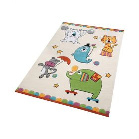 tapis enfant little artists smart kids beige