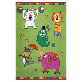 tapis enfant little artists smart kids vert