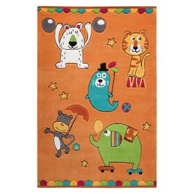 tapis enfant little artists smart kids orange