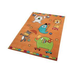tapis enfant little artists smart kids orange