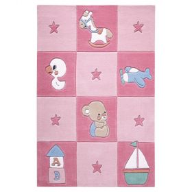 tapis enfant rose newborn smart kids tufté main