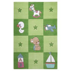 tapis enfant vert newborn smart kids tufté main
